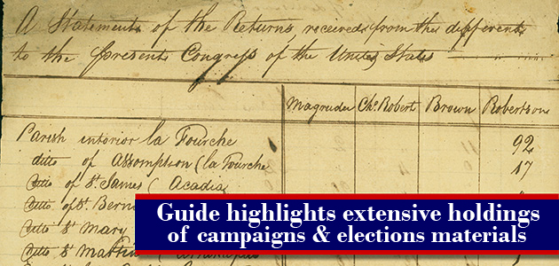 announcement of guide featuring campaigns and elections holdings